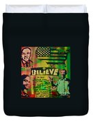 Barack And Martin And Malcolm Duvet Cover