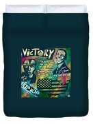 Barack And Mos Def Duvet Cover