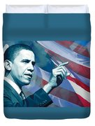 Barack Obama Artwork 2 Duvet Cover