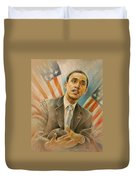 Barack Obama Taking It Easy Duvet Cover