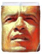 Barack Obama American President - Red White Blue Duvet Cover