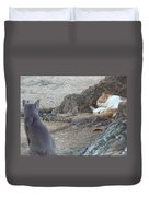 Barbados Cat Family Duvet Cover