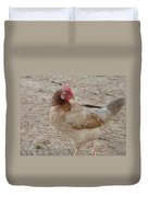 Barbados Free Range Chicken Duvet Cover