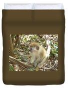 Barbados Green Monkey Duvet Cover