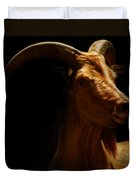 Barbary Sheep Portrait Duvet Cover by Lourry Legarde