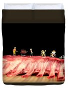 Barbecue On Lamb Ribs Duvet Cover