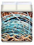 Barbed Blue Duvet Cover