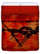 Barbed Wire Love Series  Rage Duvet Cover