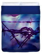 Barbed Wire Love Series The Blues 2 Duvet Cover