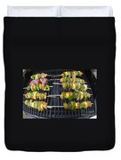 Barbeque Kabobs On Grill Duvet Cover
