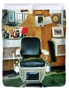 Barber - Barber Chair Front View Duvet Cover