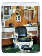 Barber - Barber Shop One Chair Duvet Cover by Susan Savad