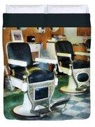 Barber - Corner Barber Shop Duvet Cover
