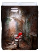 Barber - Eastern State Penitentiary - Remembering My Last Haircut  Duvet Cover by Mike Savad