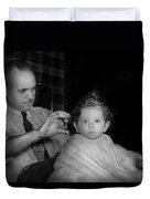 Barber - First Haircut Duvet Cover