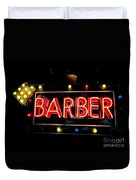 Barber This Way Duvet Cover