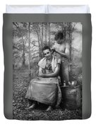 Barber - Wwii - Gi Haircut Duvet Cover