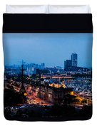 Barcelona At Night  Duvet Cover