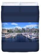 Barcelona Spain Port Vell Marina 3 Duvet Cover