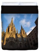 Barcelona's Marvelous Architecture - Cathedral Of The Holy Cross And Saint Eulalia Duvet Cover