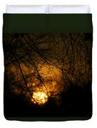 Bare Tree Branches With Winter Sunrise Duvet Cover