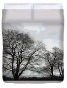 Bare Trees Winter Sky Duvet Cover
