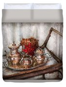 Barista - Tea Set - Morning Tea  Duvet Cover