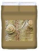Bark Of Silk Floss Tree Background Texture Pattern Duvet Cover