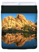 Barker Dam Pond Reflections Duvet Cover