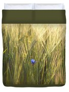 Barley And Corn Flowers In The Field Duvet Cover