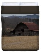 Barn Across The Field Duvet Cover