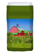 Barn And Apple Orchard Duvet Cover