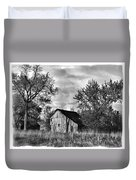Barn And Clouds Duvet Cover