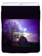 Barn And Oak Digital Painting Duvet Cover