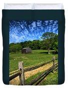 Barn At Hartwood Acres Under Beautiful Sky Duvet Cover