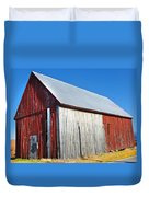 Barn By Side Of Road Duvet Cover