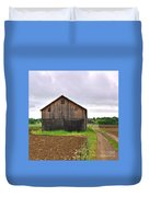 Barn By The Road Square Duvet Cover