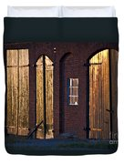Barn Door Lighting Duvet Cover