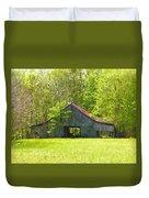 Barn From The Forgotten Farm Duvet Cover