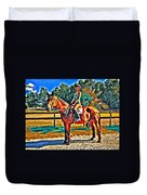 Barn Horse Two Duvet Cover