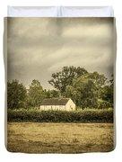 Barn In Corn Field Duvet Cover