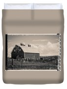 Barn In Polaroid Duvet Cover