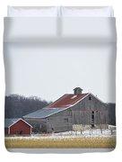 Barn In The Field Duvet Cover