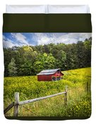 Barn In The Meadow Duvet Cover