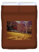 Barn In The Woods-featured In Barns Big And Small Group Duvet Cover