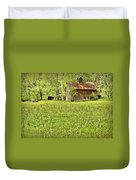 Barn In Wild Turnips Duvet Cover