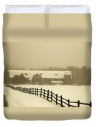 Barn Lake Placid N Y Duvet Cover