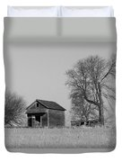 Barn On A Hill In Iowa Duvet Cover
