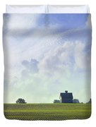 Barn On Top Of The Hill Duvet Cover