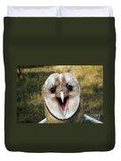 Barn Owl Tyto Alba Duvet Cover